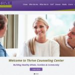 Thrive Counseling Center Website Front Page